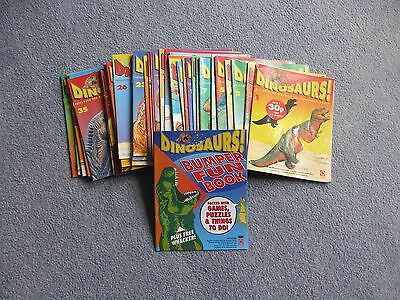 dinosaur magazines numbers 1 to 33 and 35 to 41