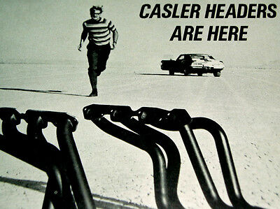 1969 CHEVY CAMARO SS/Z28-VINTAGE CASLER EXHAUST HEADERS AD-350/396/427 V8 engine