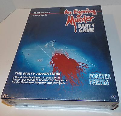 Vintage An Evening of Murder Forever Friends Party Game - Brand New Sealed 1985