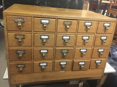 Vintage Libraco London Index Cabinet Ti3027