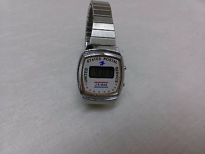 1970s early 80s United States Postal Service womens led watch works