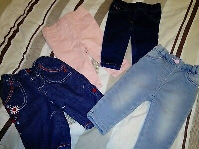 baby girl jeans bundle 0-3 months