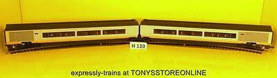 h120 hornby oo 1x pair of divisible articulated eurostar coaches nr xclnt rare
