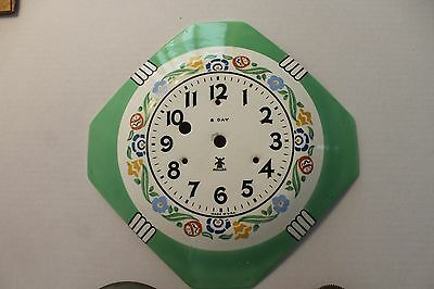 Vintage Miller Pottery Clock Face with Non Working Mechanism   12 photos