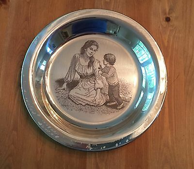 Sterling Silver Plate Irene Spencer Mothers Day Mother and Child 1975