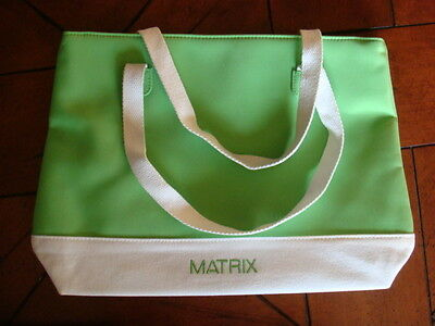 MATRIX Open TOTE BAG ~ White Logo & Lime Green ~ Medium ~ Laptop | Travel