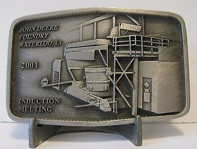 John Deere Waterloo Foundry Employee Belt Buckle INDUCTION MELTING  2001 Ltd Ed