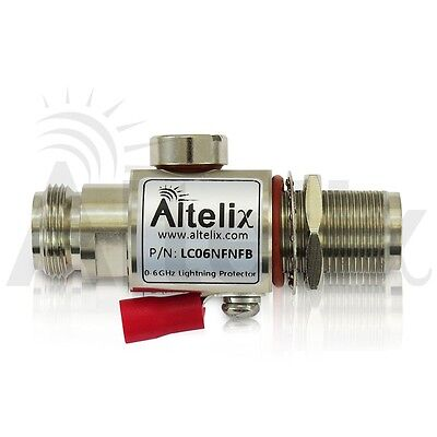 Altelix Coaxial Lightning Protector 0-6 GHz 230V Gas Tube N Female to Female