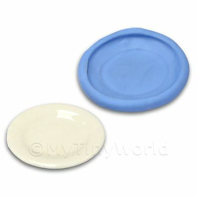 Dolls House Miniature Reusable Dinner Plate Silicone Mould