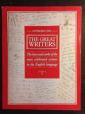 Marshall Cavendish '87 Great Writers Introductory Magazine 1987 - 8 sides