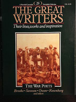 Marshall Cavendish '87 Great Writers Mag #29 War Poets Brooke Sassoon Owen