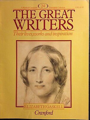 Marshall Cavendish '87 Great Writers Magazine #24 Elizabeth Gaskell Cranford