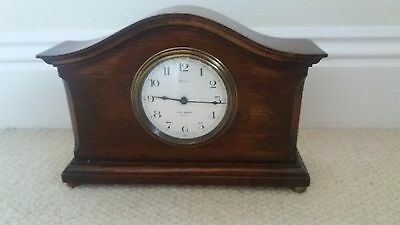 J.w Benson Of London Vintage Solid Wood Cased 8 Day Mantle Clock,circa 1930's.