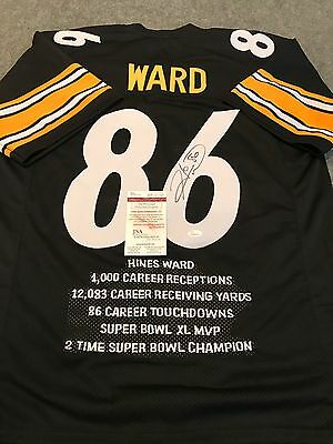 eca11c9ca5c HINES WARD AUTOGRAPHED Signed Pittsburgh Steelers Stat Jersey Jsa ...