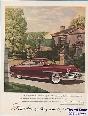 1950 Lincoln Cosmopolitan Coupe Nothing Could be Finer Vintage Car Ad