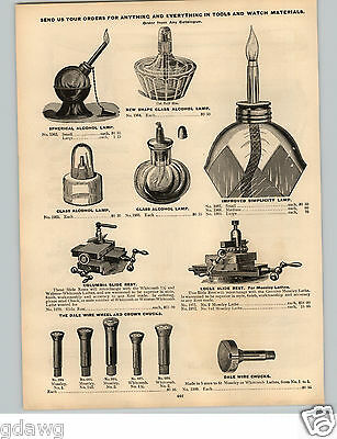 1896 PAPER AD Jewelers' Tools Alcohol Lamp Improved Simplicity Crosby's