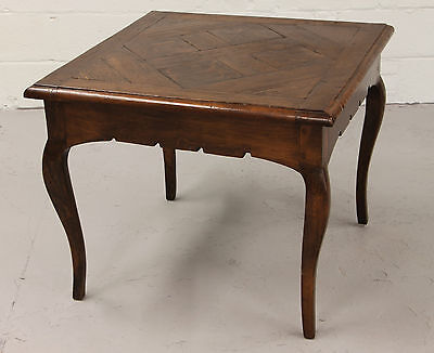 Country French Parquetry Top Table With 18Th Century Parquetry Floor