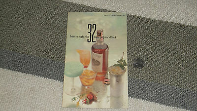 Vintage/retro 1960 How To Make The 32 Most Popular Drinks Recipe Booklet