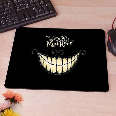 """7.5"""" x 9"""" Cheshire Cat We're All Mad Here Mouse Pad Gaming Office Work Wonder US"""