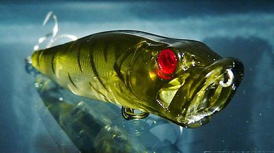 1 x POPPER POP Surface Fishing Lure FREE SHIPPING Whiting Bream Bass bug green