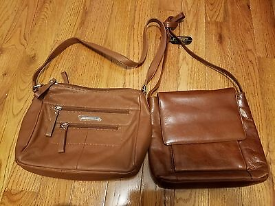"""Lot Of 2 Women's Brown Purses """"stone & Co"""" """"phillippe"""""""