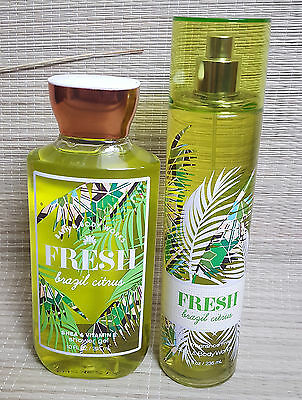 bath and body works fresh brazil citrus shower gel and fine fragrance mist