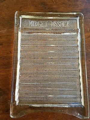 Antique Midget Washer Glass Washboard