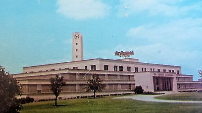 Very Rare Dr Pepper Post Card 50`s Of The Plant On Mockingbird Lane