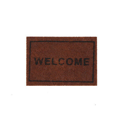 Dollhouse Miniature Welcome floor mat Carpet Rug dollhouse accessories    SN