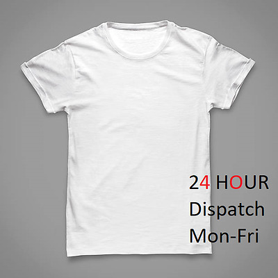 8 x T SHIRT White blank plain tee bulk Mens Heavy Cotton DISPATCHING reallyFAST
