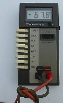 2 Data Precision Model 438 Digital Capacitance Meters with Cases & Leads