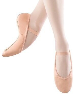 Bloch Adult Dansoft Full Sole Leather Ballet Slippers -Size 3.5A/Pink