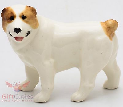 Porcelain Figurine of the Central Asian Shepherd Alabai Dog