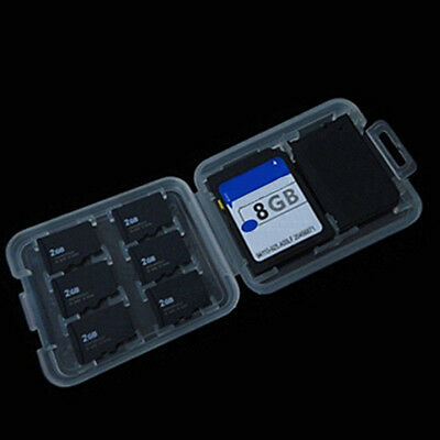 NEW Plastic transparent Clear Case For Micro SD TF Card Box Protector US