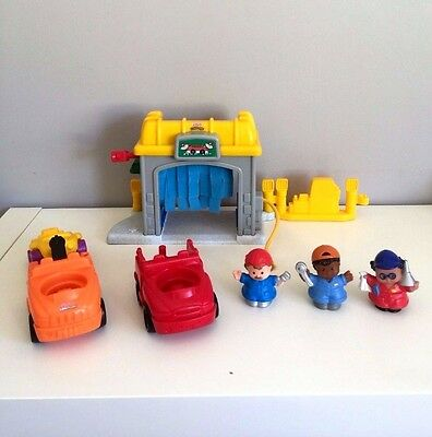 Fisher Price Little People Car Wash and Mechanics Playset Boys Girls Toy