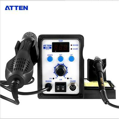 2 in 1 ATTEN AT8586 Advanced Hot Air Soldering Station, SMD Rework Station,750W