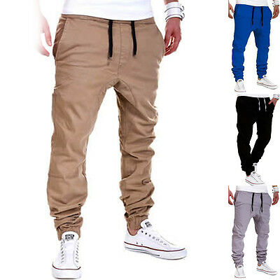 AU Mens Casual Trousers Sweatpant Harem Long Pants Slacks Jogger Dance Sportwear