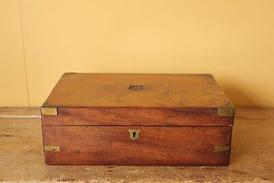Antique Wooden  brass bound box.