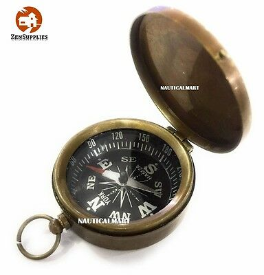 """2.5"""" Antique Brass Compass by NauticalMart Perfect Gift Collections Vintage New"""