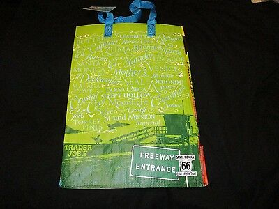 TRADER JOE'S  Shopping Bag Grocery  REUSABLE CALIFORNIA  RARE