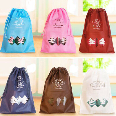 Laundry Shoe Travel Pouch Portable Tote Drawstring Storage Bag Organizer Pouch