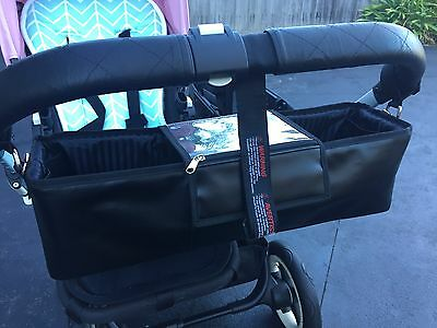 *SALE* Faux Leather Double Pram & Stroller Bag Organiser, Nappy Bag suit bugaboo