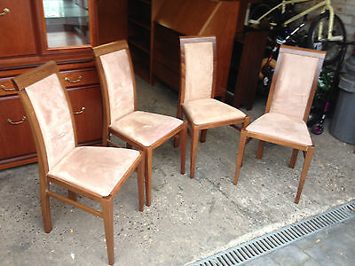 Set Of 4 Contemporary High Back Dining Chairs