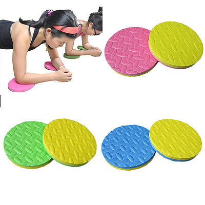Round Sports Yoga Workout Foam Pad Cushion Eliminate Knee Elbow Protector Mats
