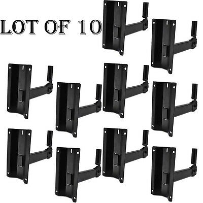 LOT OF (10) PSTNDW15 Pyle Universal Adjustable Wall Mount Speaker Bracket Stand