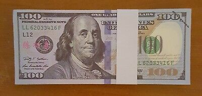 $1000 Dollars $100 bill Best Novelty Movie Prop Money Fake Prank + FREE 24K GIFT