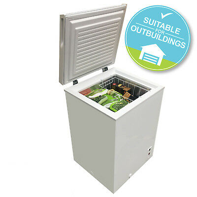 SIA CFR100WH 106L Slimline Freestanding White Chest Freezer A+ Energy Rating
