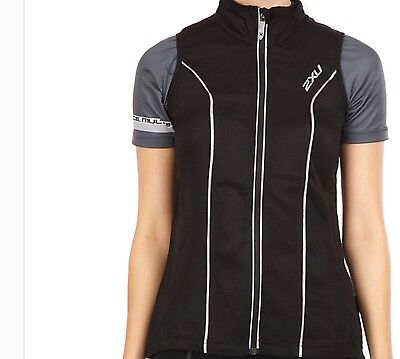 BRAND NEW!, WOMENS 2 XU CYCLE VEST IN SIZE S Black RRP $150.00