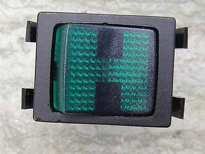 NOS TWO Beautifully Styled Green Neon Mains Switches, Made In France