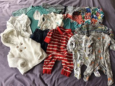 Bundle 13 Baby Boys Clothes 0-3 Months Next M&S Gap Mothercare Babygrows Jumpers